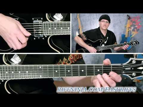 easy blues guitar riff for beginners riff ninja. Black Bedroom Furniture Sets. Home Design Ideas